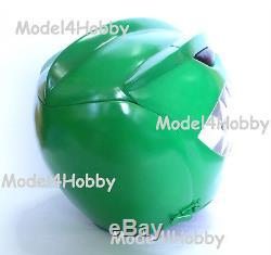 Cosplay Mighty Morphin Power Rangers GREEN Life-size Helmet Hero Halloween Props