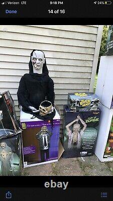 Count Vigor Bnib Gemmy Lifesize Rare Htf Animated Spirit Halloween Morbid Magic