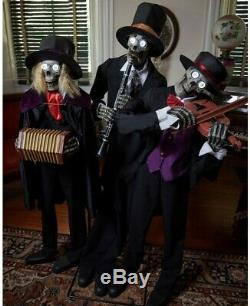 Creepy Janglin Bones Skeleton Trio Animatronics Halloween Decorations Props