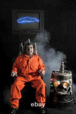 Electric Chair Kit Execution Animated Halloween Prop Haunted House Decor Spirit