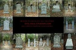 Evil Soul Studios Little Annie Bates Cemetery Tombstone and Coffin Crypt Prop