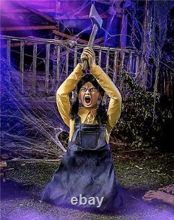 FLASH SALE Spirit Halloween 4.3 Ft Ellie Hatchet Animatronic Decorations New