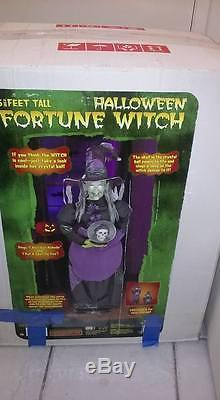 Halloween Fortune Teller Animatronic.Fortune Telling Witch With Microphone Gemmy Life Size Animatronic Prop