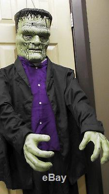 FULL BODY! Gemmy Frankenstein Halloween Monster Prop. Sings Who can it be now