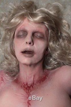 Female Cadaver Haunted House Halloween Horror Prop The Walking Dead Corpse