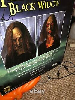 Flaming Black Widow Spirit Halloween Animatronic Prop Gemmy Morbid Rare Bnib