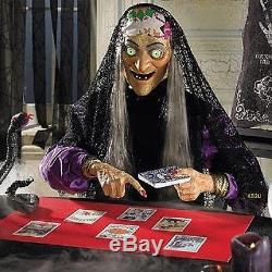 Fortune Teller Halloween Animated Prop Witch Ball Gemmy