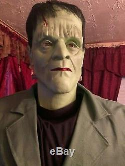GEMMY Life Size Boris Karloff Frankenstein Animatronic Halloween Spirit w box