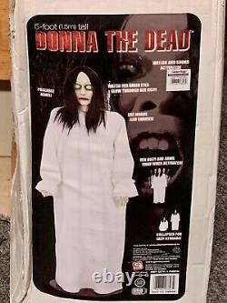 Gemmy Donna The Dead 2006 5 foot Animated Halloween Prop White Gown The Ring