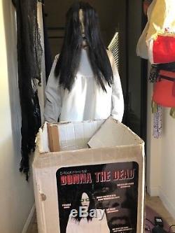 Gemmy Donna the Dead Animatronic Halloween Prop 5 ft sways, moans, eyes light up
