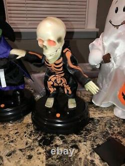 Gemmy Grave Raver Lot Rare Htf Halloween Animated Spirit Morbid Dancing Skeleton