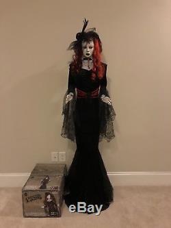 Gemmy Halloween Life Size Animated Black Widow Countess Animatronic Decor Prop