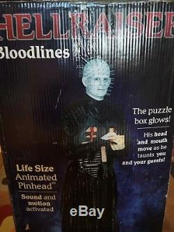 Gemmy Halloween Life Size Animated Licensed Hellraiser Pinhead Prop