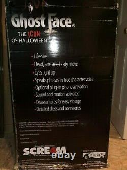 Gemmy Spirit Halloween Animated LifeSize Ghostface Rare