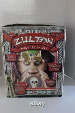 Gemmy Vintage Animated Zultan Fortune Teller Machine With Box Excellent