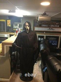 Ghostface Gemmy 6ft Life Size Complete Works perfect