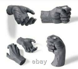Grandin Road Halloween Stone Wall Hands And Taper Holder Set Prop Decoration