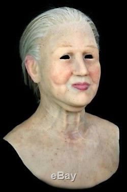Grandmother Silicone Mask Halloween Hand Made Realistic High Quality