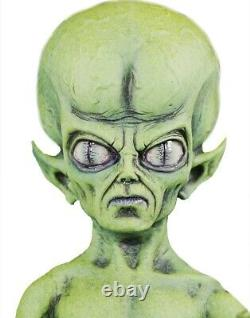 Green Martian Prop UFO Alien Lifesize Area 51 Roswell Halloween Poseable