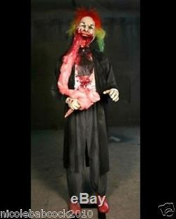 Halloween Life Size Bloody Sweet Animated Candy Clown Horror Haunted House Prop