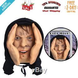 HALLOWEEN Mask Scary Costume Motion Sensor Animated Eyes Scary Peeper Creeper