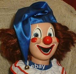 HAUNTED Clown doll EYES FOLLOW YOU Creepy Halloween Poltergeist prop