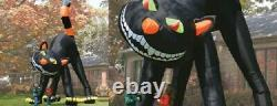 Halloween 20 FT ANIMATED BLACK CAT airblown inflatable Light Yard Decor Prop