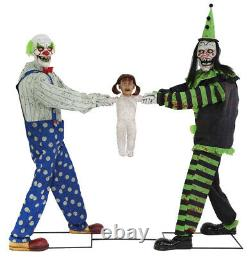 Halloween 6 Ft Life Size Animated Tug Of War Clown Prop New Decoration 2020