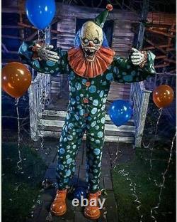 Halloween 6 Ft Peek-A-Boo Clown Animatronic Decorations Lawn Scary NEW