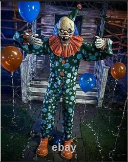 Halloween 6 Ft Peek-A-Boo Clown Animatronic Decorations Lawn Scary NEW-SEALED