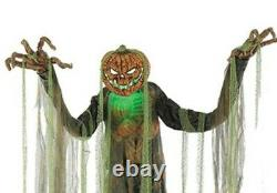 Halloween 7ft Animated Root Of Evil Scarecrow LifeSize Prop Haunted Pumpkin Head