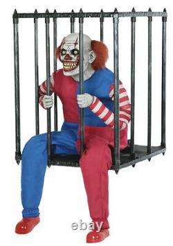 Halloween Animated Caged Clown Walk Around Prop Decoration In Stock
