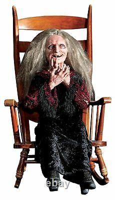 Halloween Animated LAUGHING GRANNY HAG WITCH LifeSize Haunted House Theater Prop