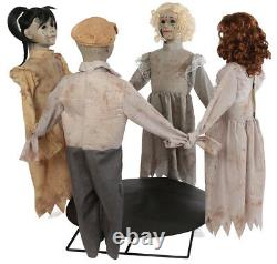 Halloween Animated Ring Around The Rosie Dolls Prop Decoration Haunted House