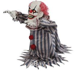 Halloween Animated SCARY JUMPING CREEPY CLOWN Prop Haunted House Pre-Order NEW