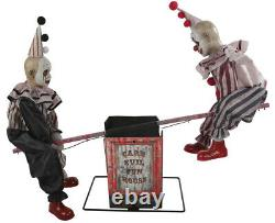 Halloween Animated See Saw Clowns Circus Prop Decoration Haunted House
