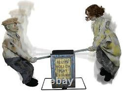 Halloween Animated See Saw Dolls Playground Prop Decoration Haunted House