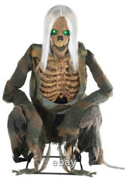 Halloween Animatronic CROUCHING BONES SCARY CEMETERY Prop Seasonal Visions