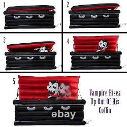 Halloween Haunters 6 Foot Inflatable Vampire Dracula Coffin Yard Prop Decoration