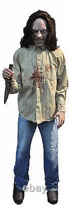 Halloween Life Size Animated Serial Killer Man Prop Decoration Animatronic