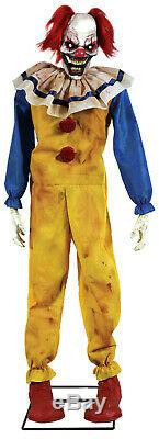 Halloween Life Size Animated Twitching Clown Prop Decoration Haunted House