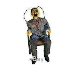 Halloween Life Size Animated prop Death Row Electrocuted Prisoner Prop