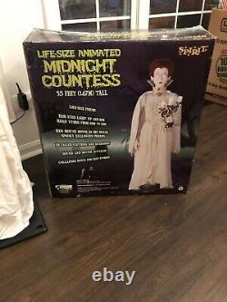 Halloween Life size MIDNIGHT COUNTESS animated prop 6 GEMMY SPIRIT