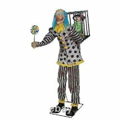 Halloween Lifesize Animated MR. HAPPY CLOWN PROP Haunted House NEW FOR 2020
