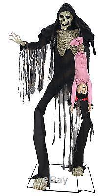 Halloween Lifesize Animated TOWERING SKELETON BOOGEY MAN Prop Haunted House NEW