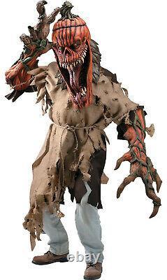 Halloween Prop Bad Seed Pumpkin Head Creature Reacher Costume Mask Mens