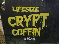 Halloween Prop Spirit 5 Foot Life Size Crypt Coffin Haunted House Cemetery
