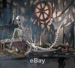 Halloween Props Decorations Scary 14 1/2 x 73 Mermaid Skeleton, Outdoor/Yard