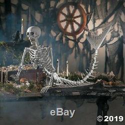 Halloween Props Decorations Scary 14 1/2 x 73 Mermaid Skeleton, Yard, Outdoor