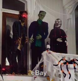 Halloween Props Life Size Decor Animated 3 Monster Set Lighted Eyes Sound Lights
